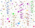 Party streamers and confetti 3d illustration Royalty Free Stock Photo