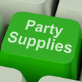 Party supplies key shows celebration products showing and goods online Royalty Free Stock Photo
