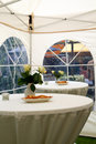Party tent in garden 3 Royalty Free Stock Photo