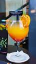 Party time - tequila sunrise cocktail Royalty Free Stock Photo