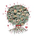 Party tree with ladies and gentlemen for your design this is file of eps format Royalty Free Stock Photography