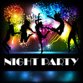 Party vector flyer summer beach salute on black background Royalty Free Stock Images