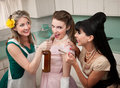 Partying Housewives Royalty Free Stock Photography