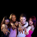 Partying women Royalty Free Stock Photography