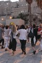 Partying women during Shabbat in Jerusalem Stock Photography