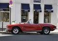 Paryż august aged samochód w paryż Obrazy Stock