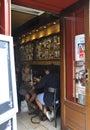 Paryż sierpień restaurant w montmartre w paryż Obraz Stock