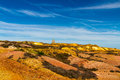 Parys Mountain with ruined windmill Royalty Free Stock Photo