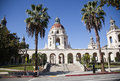 Pasadena city hall grand entrance to the historic building in southern california Royalty Free Stock Photo