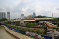 Pasar Seni LRT Station in Kuala Lumpur, Malaysia Royalty Free Stock Photo