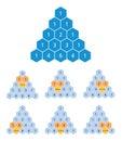 Pascals triangle calculation, binomial coefficients, mathematics