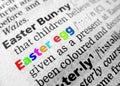 Pascua en diccionario Imágenes de archivo libres de regalías
