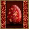 Pascua feliz tarjeta de felicitación abstracta Fotografía de archivo libre de regalías