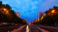 Paseo de la Castellana at Chamartin district. Madrid Royalty Free Stock Photo