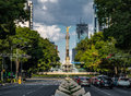 Paseo de La Reforma avenue and Angel of Independence Monument - Mexico City, Mexico Royalty Free Stock Photo