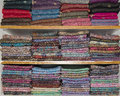 Pashmina scarves collection of many colorful Stock Photography