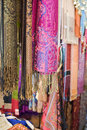 Pashminas And Fabrics For Sale Royalty Free Stock Photo