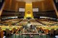 Pasillo de la Asamblea General de Naciones Unidas Imagenes de archivo