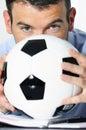 Pasión del fútbol Imagen de archivo