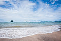 Pasir hitam beach langkawi view from island Stock Image