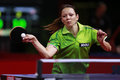 Paskauskiene ruta ltu at the liebherr world table tennis championships may may paris fra Stock Photography