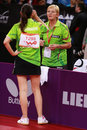 Paskauskiene ruta ltu at the liebherr world table tennis championships may may paris fra Stock Images