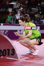 Paskauskiene ruta ltu at the liebherr world table tennis championships may may paris fra Stock Photo