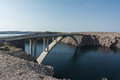 Paski bridge (Pag bridge) Royalty Free Stock Photo