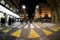 Paso de cebra peatonal Foto de archivo