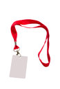 Pass with red strap on a isolated on a white background Royalty Free Stock Images