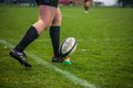 Pass in rugby Royalty Free Stock Photography