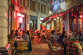 Passage in bucharest romania september night scene of the macca vilacrosse the old town of the historical Royalty Free Stock Photos