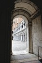 Passage in the doge s palace venice Stock Images