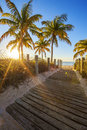 Passage to the beach at sunrise key west Stock Photography