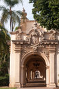 Passageway in balboa park view of an arched san diego s Stock Images