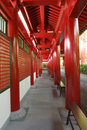 Passageway at the Buddha Tooth Relic Temple Royalty Free Stock Photo