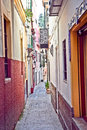 Passageway in center of seville spain andalusia Royalty Free Stock Photo