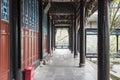 Passageway in fulong temple this photo was taken in dujiang dam scenic area dujiangyan city sichuan province china Stock Photos