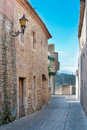 Passageway in Peratallada, Spain Royalty Free Stock Photo
