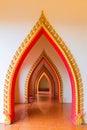 Passageway in the temple, Kanchanaburi Royalty Free Stock Photo