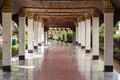 Passageway in the temple. Royalty Free Stock Photo