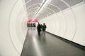 Passageway in underground station a tubular an Royalty Free Stock Photography