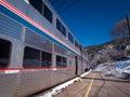 Passanger train at the glenwood springs station Stock Images