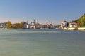Passau bavaria germany at the confluence of three rivers inn danube and ilz Stock Photo