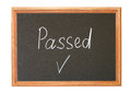 Passed written in white chalk on a blackboard Royalty Free Stock Photo