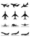 Passenger aircrafts in flight Royalty Free Stock Image
