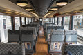 The passenger cabin of tourist train Koshino Shu*Kura. Royalty Free Stock Photo