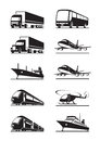 Passenger and cargo transport Royalty Free Stock Photos