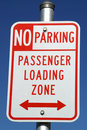 Passenger Loading Zone Sign 33 Royalty Free Stock Photo