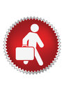 Passenger with luggage moving forward Stock Photos